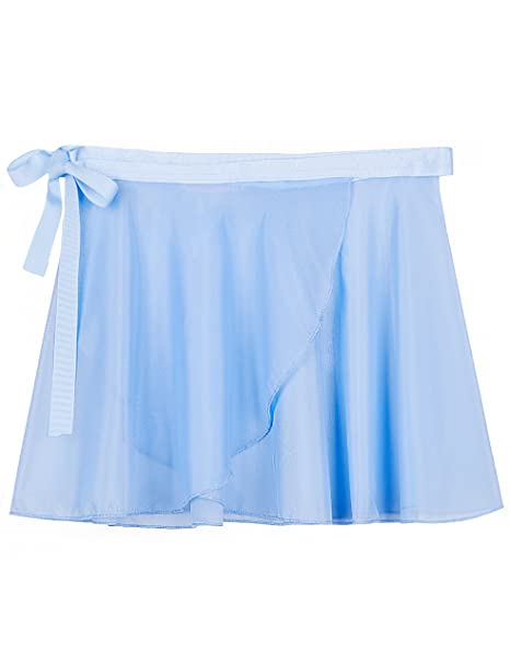 21959dec3088 Amazon.com  MdnMd Girls  Ballet Wrap Skirt with Tie Waist  Clothing