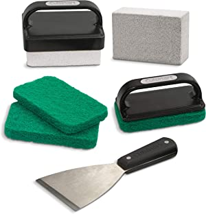 Cuisinart CCK-231 Ultimate Griddle Kit, 8-Piece Grill Cleaning, Black