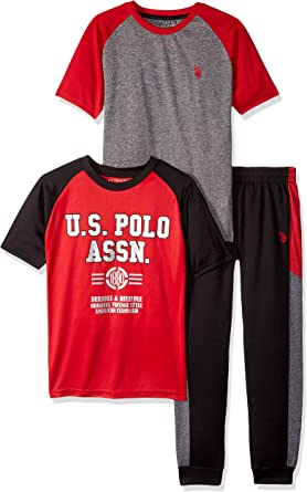 Boys Sleeve T-Shirt and Pull-on Short U.S Polo Assn