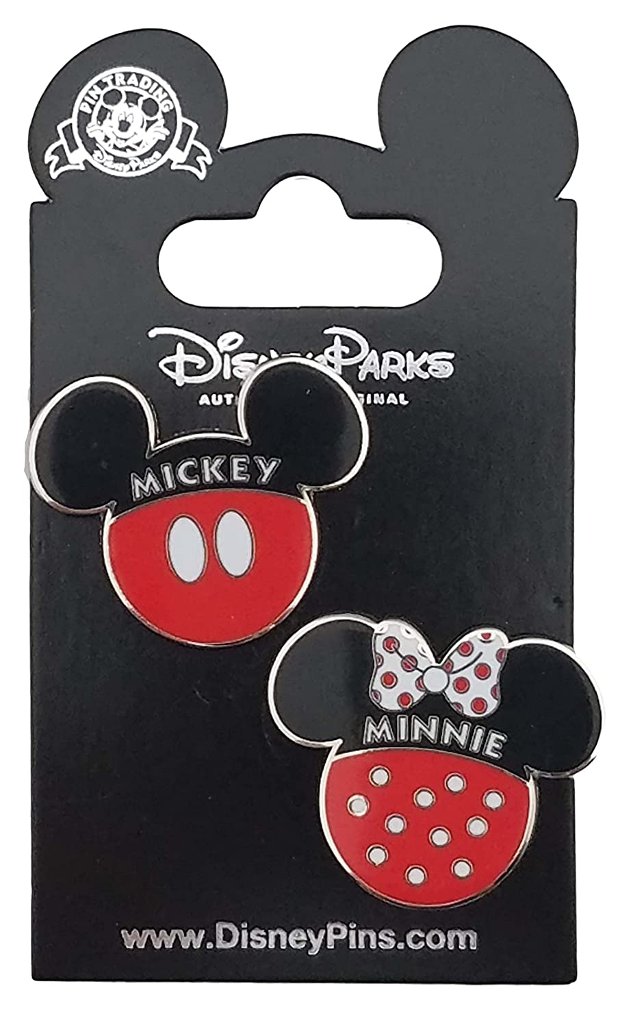 Disney Pin - Mickey And Minnie Icons 2 Pin Set