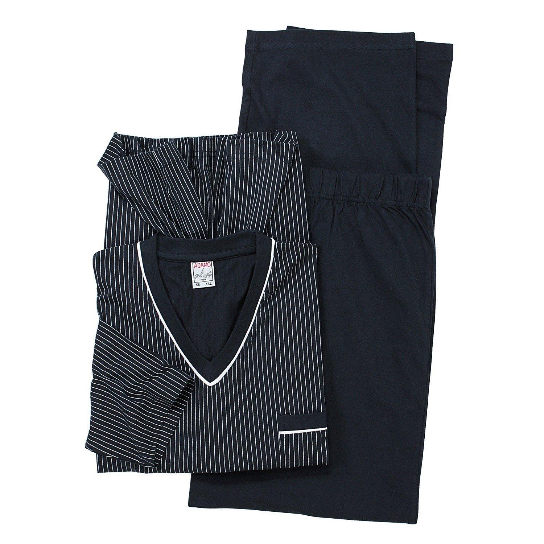 Übergrößen Langarmschlafanzug in grau der Firma Adamo bis 9XL 1928