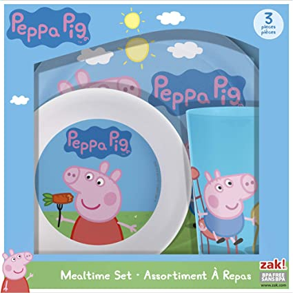 Peppa Pig Mealtime Set with Plate Bowl and Tumbler Break Resistant and BPA-  sc 1 st  Amazon.com & Amazon.com: Peppa Pig Mealtime Set with Plate Bowl and Tumbler ...