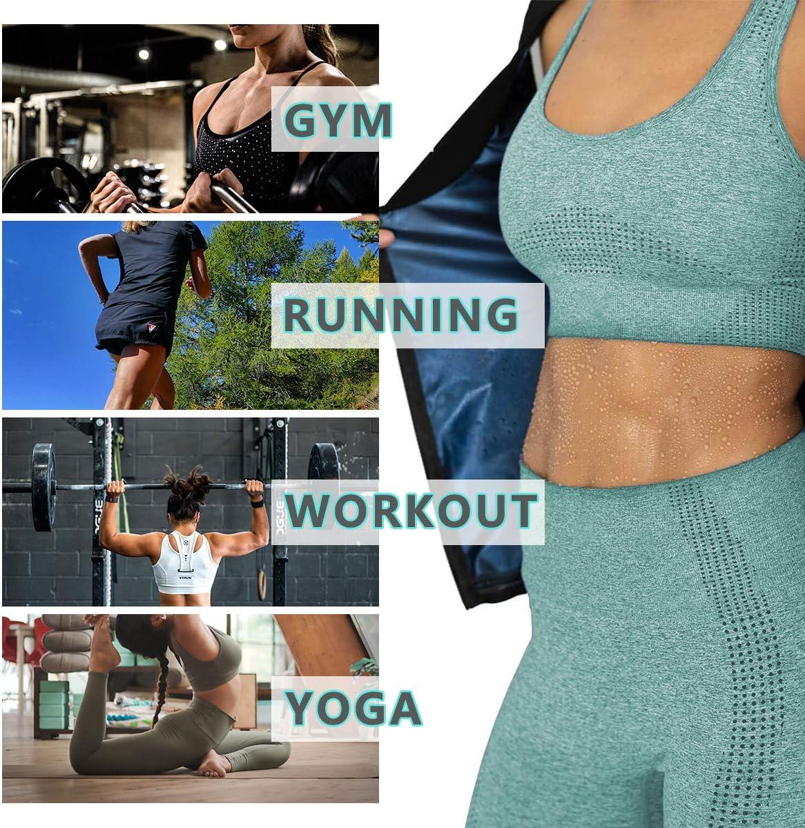 INRLKIT Women Waist Trainer Vest Slim Corset Polymer Sauna Tank Top Zipper Body Shaper Shirt