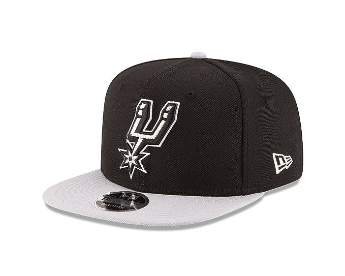best website 14c74 01e3f NBA San Antonio Spurs Men s 9Fifty Original Fit 2Tone Snapback Cap, One  Size, Black
