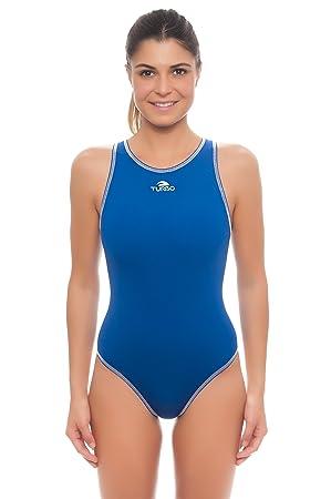 Turbo Mujer Pelotas de Agua de Traje Azul - Water Polo WP Bañador: Amazon.es: Deportes y aire libre