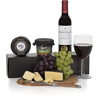 Wine Cheese And Pate Gift Box Hamper Red Wine Gift Hampers Food Gifts Baskets Free Uk Delivery