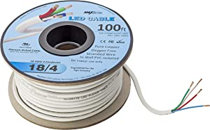 LED Cable 4 Conductor Jacketed In-Wall Speaker Wire UL/cUL Class 2 (100ft. Spool)