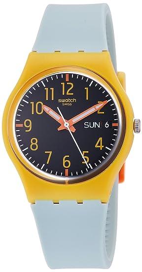 Swatch Reloj Digital para Mujer de Cuarzo con Correa en Silicona GO702: Amazon.es: Relojes