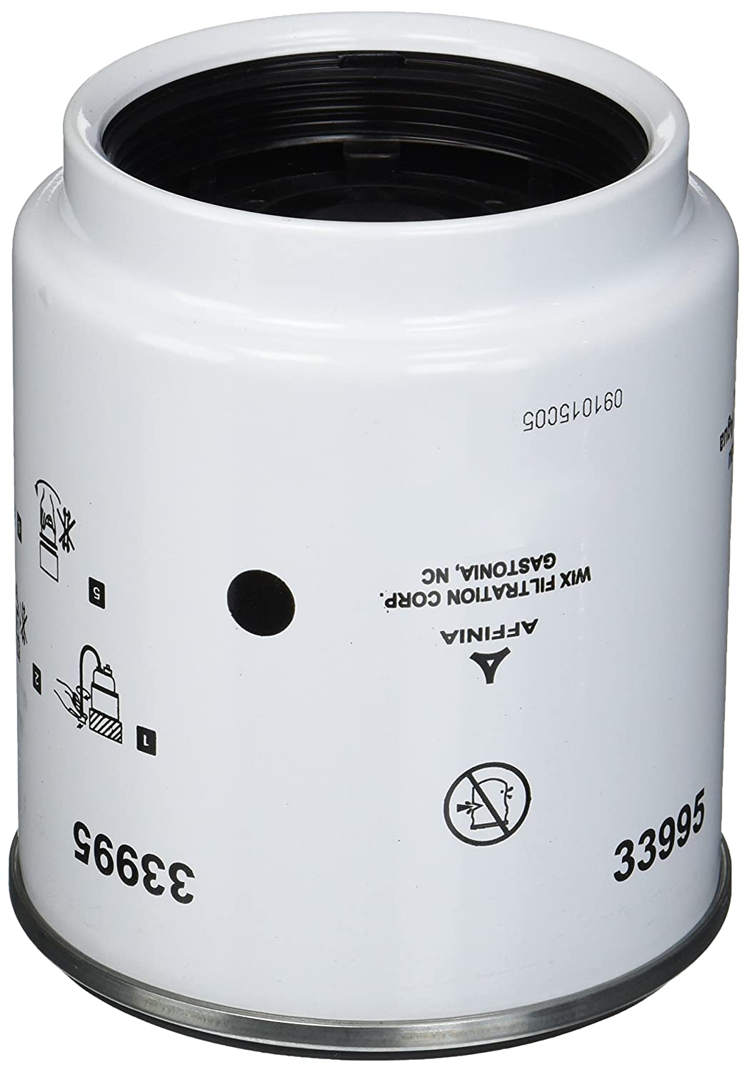 33995 Heavy Duty Spin On Fuel Water Separator Pack of 1 WIX Filters