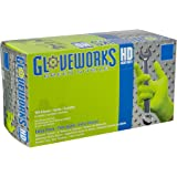 AMMEX - GWGN48100-BX - Nitrile Gloves - Gloveworks - HD, Disposable, Powder Free, 8 mil, XLarge, Green (Box of 100)