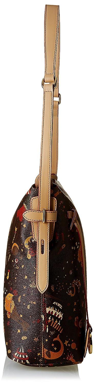 Piero Guidi kvinnors 21397 cross-body väska Mörkbrun
