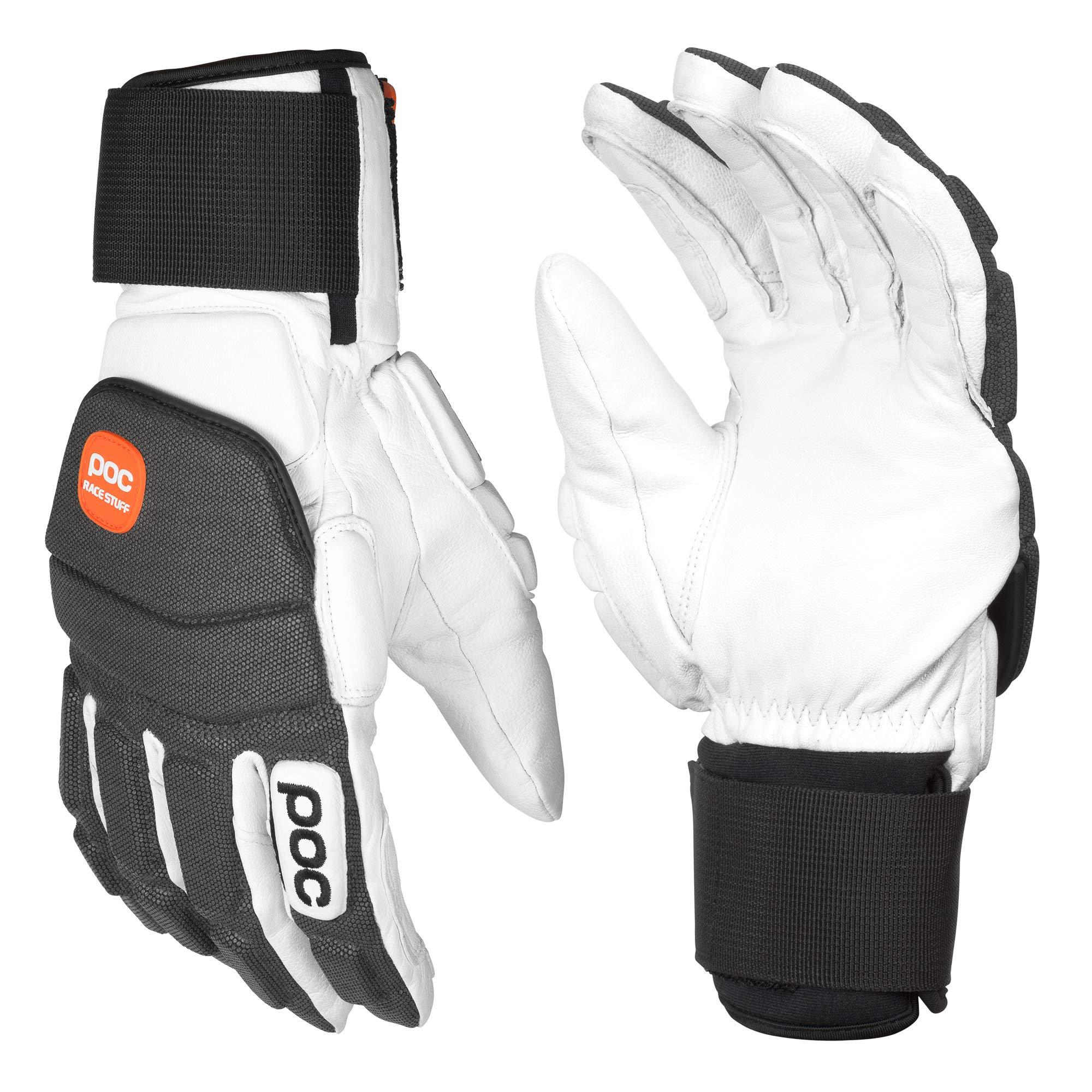 POC Super Palm Comp Skiing Gloves, Hydrogen White, Large