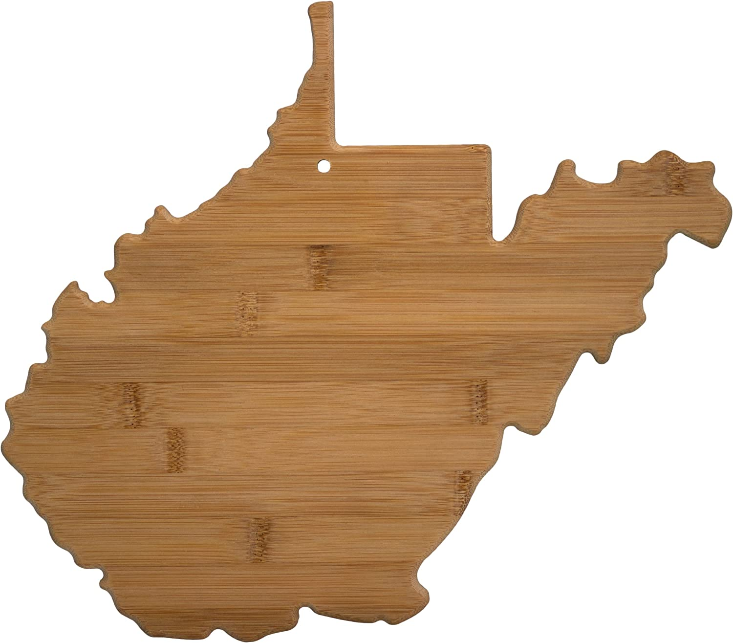 Totally Bamboo West Virginia State Shaped Bamboo Serving & Cutting Board