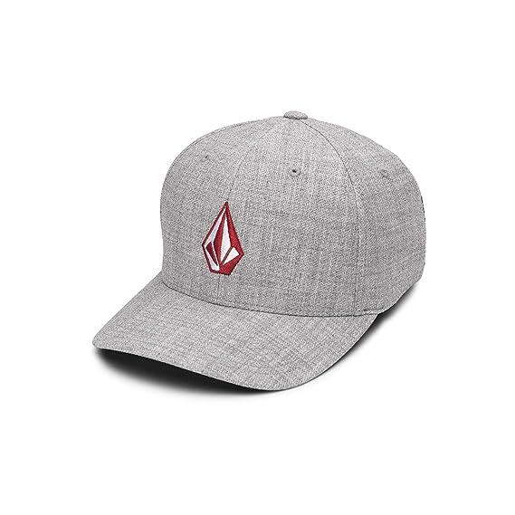 super popular 99054 c96a5 Volcom Men s Full Stone Heather Flex Fit Hat, Grey, Small Medium   Amazon.co.uk  Clothing