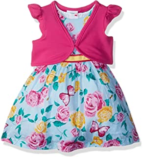 7b50b8a841da Amazon.com  Youngland Girls  Toddler Woven Embroidered Ombre Dress ...