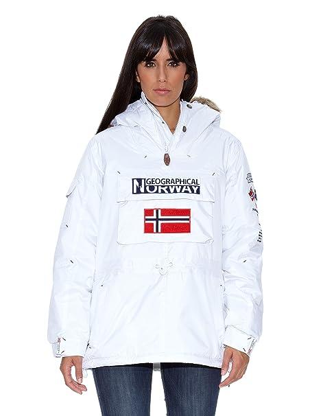 Geographical Norway Abrigo Building Lady Assor B (Uky) Blanco S/M: Amazon.es: Ropa y accesorios
