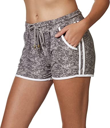 Indero Women's Ultra-Soft Lightweight Side Stripe Active Joggers with Pockets (Shorts, Full Length, S/M, L/XL, Plus 1X 2X 3X)