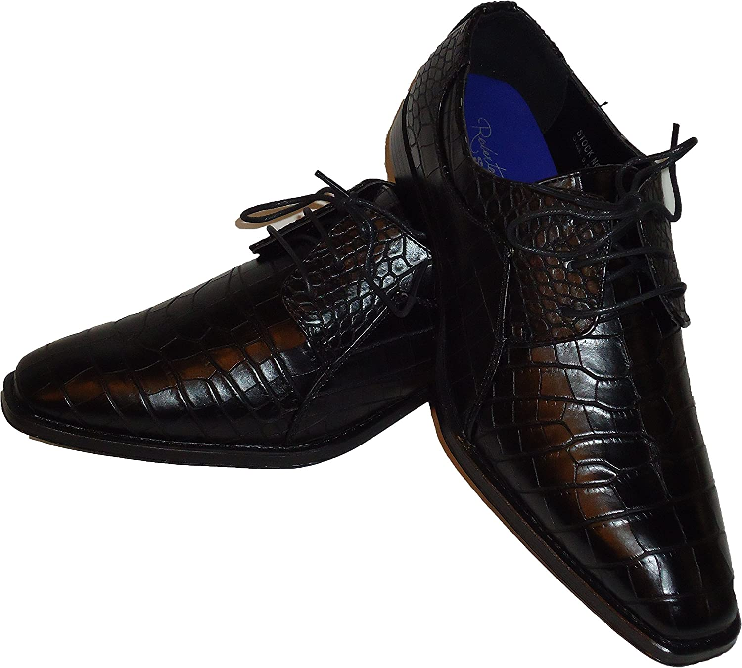 Expressions 4925 Mens Formal Oxford Dress Shoes Striped Satin Tuxedo by RC Roberto Chillini