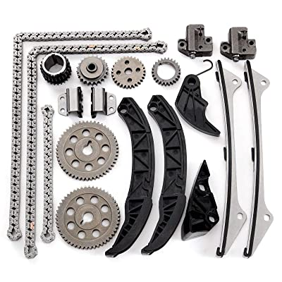 OCPTY Timing Chain Kit Tensioner Guide Rail Crank Sprocket fits for 2006 2007 2008 2009 2010 KIA SEDONA SORENTO AMANTI 3.8L V6 DOHC G6DA IFHY0132: Automotive