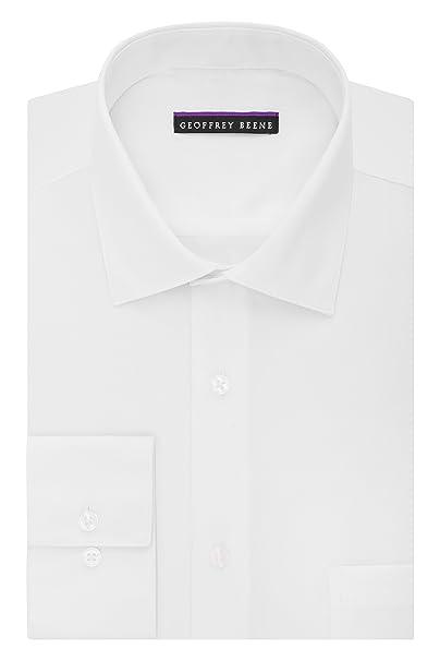 77ac2b2e26d Geoffrey Beene Men s Sateen Regular Fit Solid Spread Collar Dress Shirt