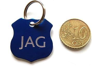1 medalla azul insignia policía perro gato Collar arnés pequeño ...
