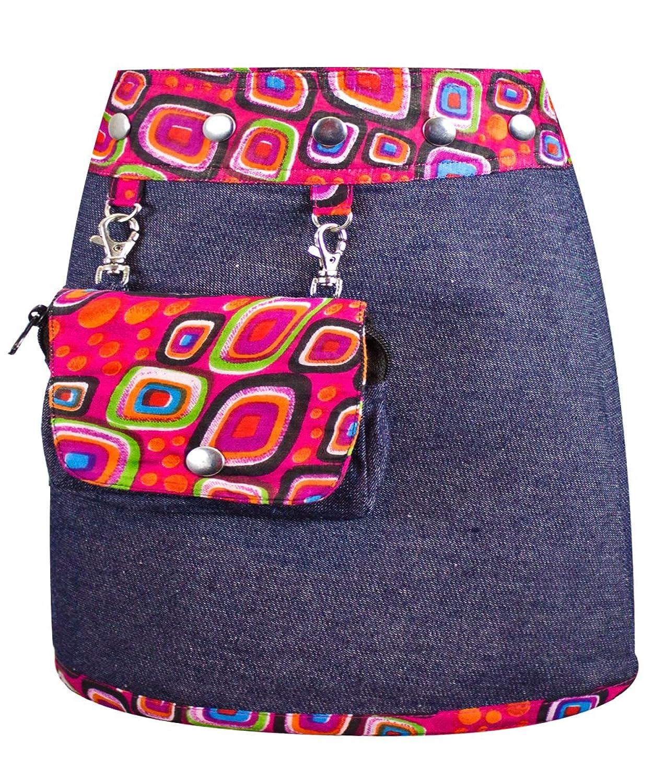 Jupe pour enfants Sunsa, jupe jeans, mini-jupe, jupe portefeuille, jupe réversible, jupe d'été, jupe enfants, 3 en 1, taille ajustable cadeau gratuit 15494