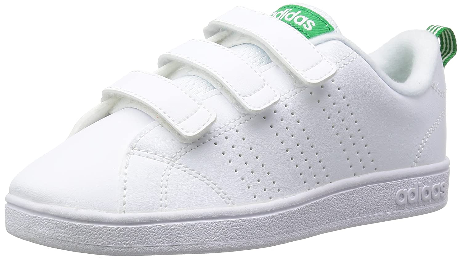 Adidas VS Advantage Cl, Zapatillas para Hombre, Blanco (Footwear White/Footwear White/Green 0), 38 EU