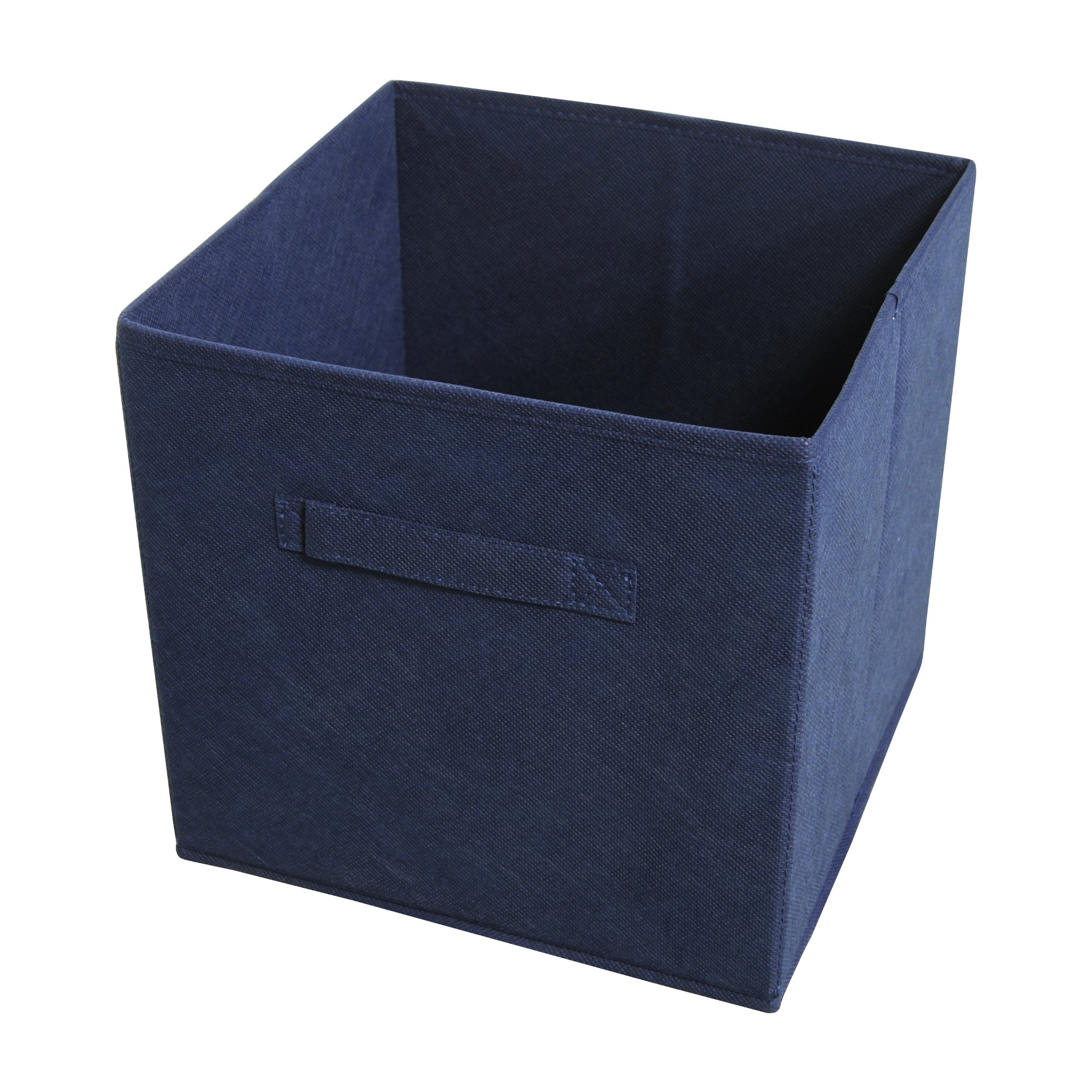 Achim Home Furnishings STRGBNNY04 Collapsible Storage Bins, Set of 4,Navy