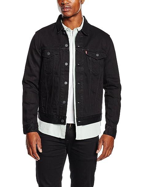 Giubbotto jeans nero levi's