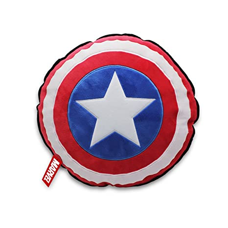 Star Wars T24310 - Cojín, diseño del Capitán América Shield, Color Negro