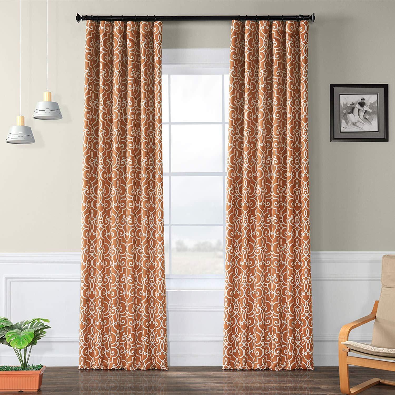 HPD Half Price Drapes BOCH-KC104A-96 Blackout Room Darkening Curtain (1 Panel), 50 X 96, Nouveau Rust