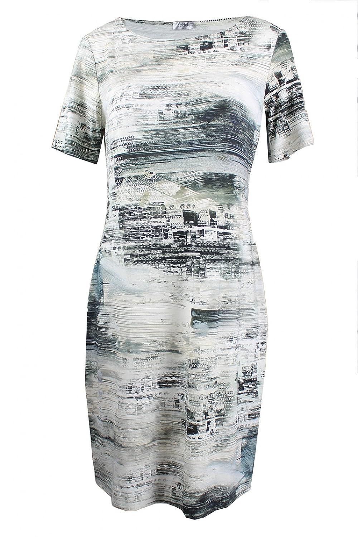Seidel - Kleid 1/2 - schwarz-weiß, 38, Viskose