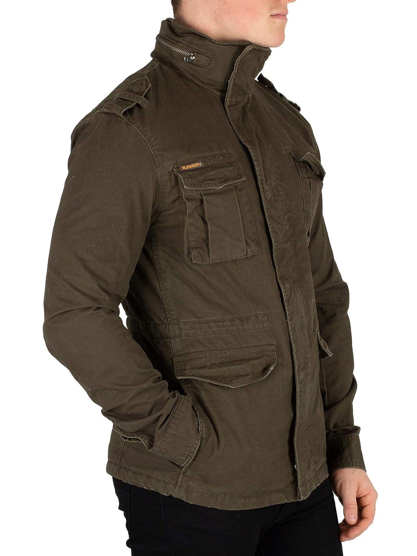 Superdry - Blouson - veste style militaire épaisse rookie  Amazon.fr   Vêtements et accessoires 00e3ff2a771