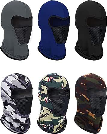 6 Pieces Summer Balaclava Face Mask Breathable Sun Dust