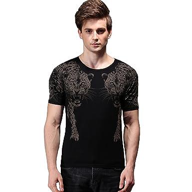 ab4c6a08421 FANZHUAN Tee Shirts Graphic Men Tee Shirts Men Fashion T-Shirt Men Novelty T  Shirts
