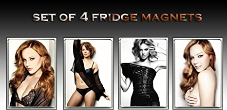 Abbie Cornish Sexy Set Of 4 Fridge Magnets Refrigerator Magnets