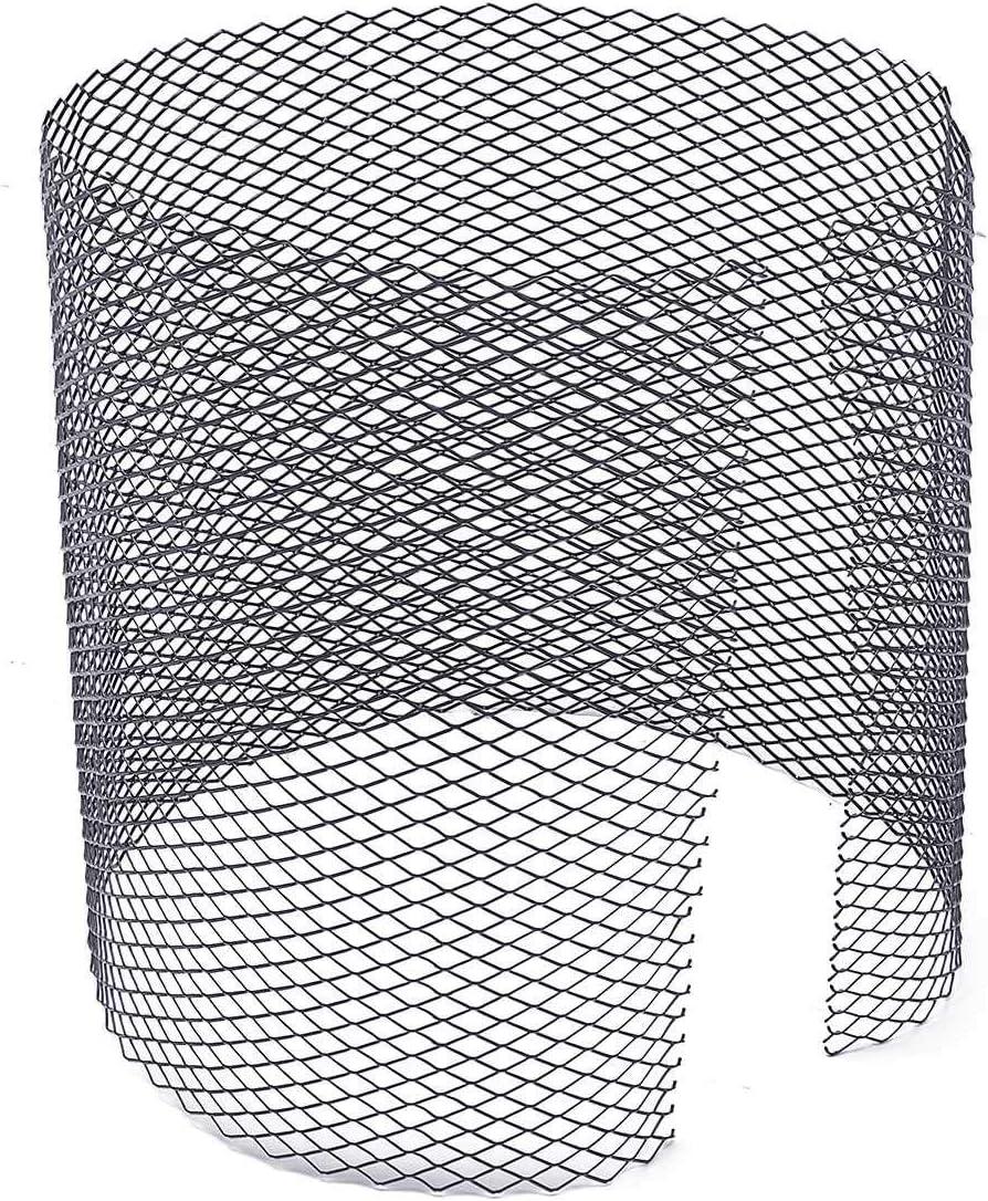 1x Black Aluminium Grille Grill Mesh Net Vent Bumper 12x5mm 100x30cm