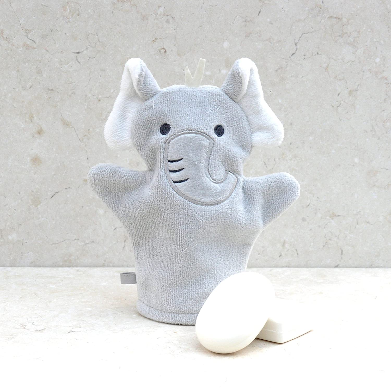 Gant de toilette /«/Elephant /» en coton Bathing Bunnies
