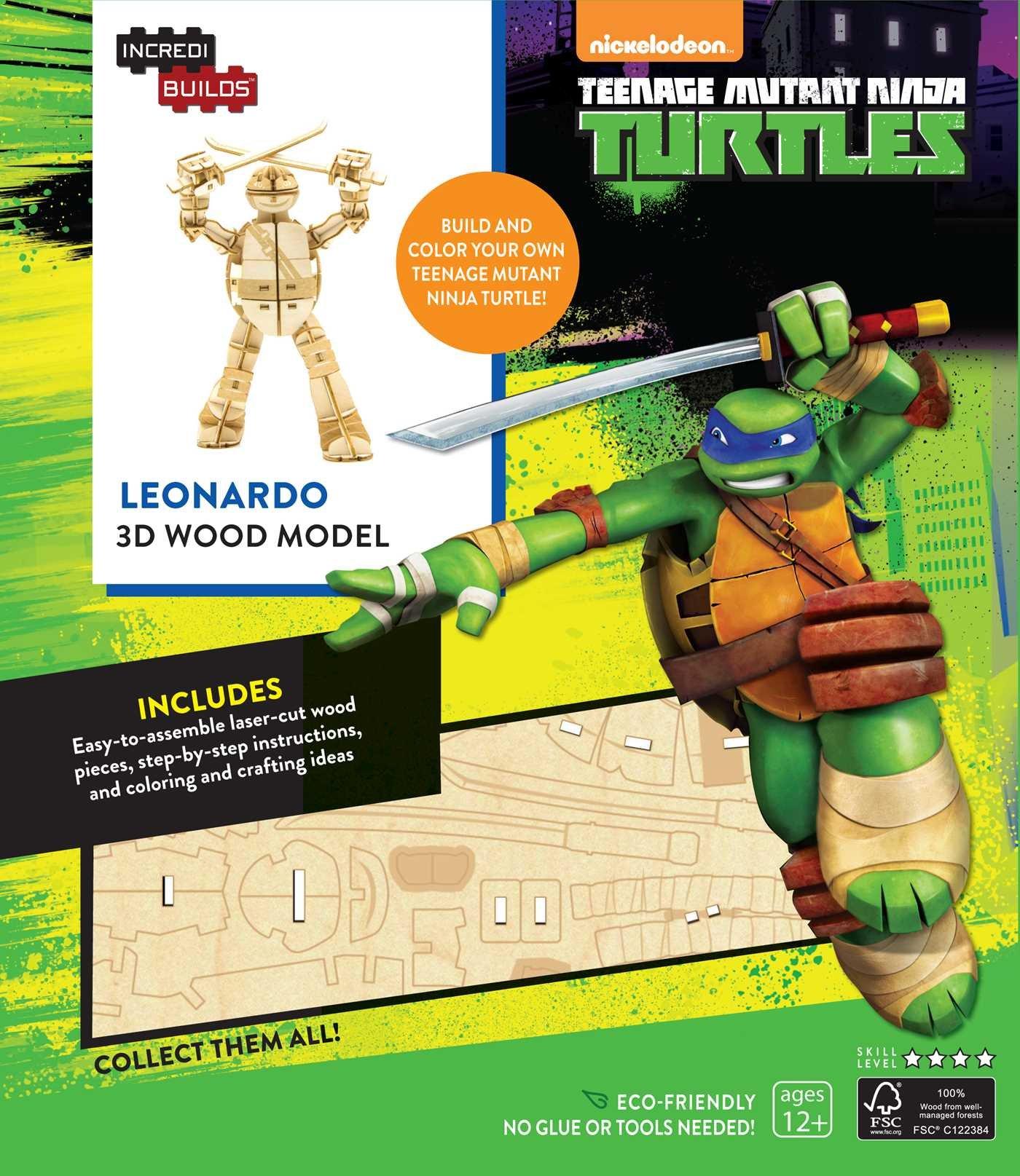 IncrediBuilds: Teenage Mutant Ninja Turtles: Leonardo 3D ...