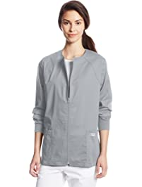 Cherokee Women's Workwear Scrubs Core Stretch Zip-Front Warm-Up Jacket