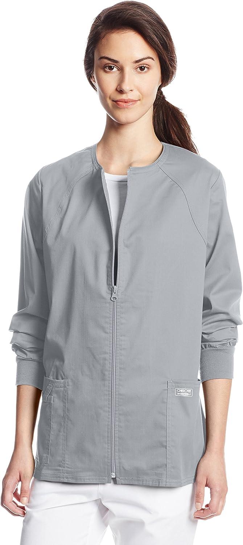 Caribbean Blue Cherokee Scrubs Workwear Core Stretch Warm Up Jacket 4315 CARW