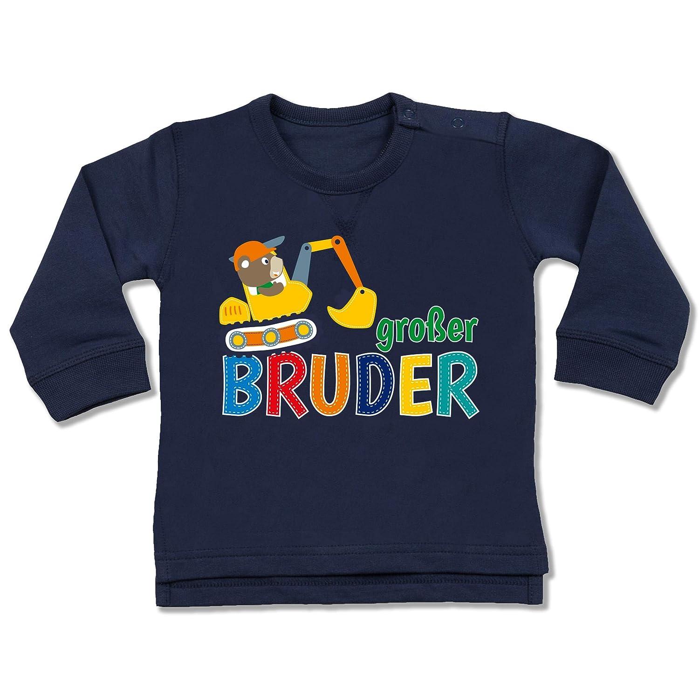 Shirtracer Geschwisterliebe Baby - Großer Bruder Bagger - Baby Pullover BZ31