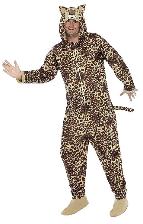 Smiffys Traje Leopardo, Todo en Uno con Capucha: Amazon.es ...