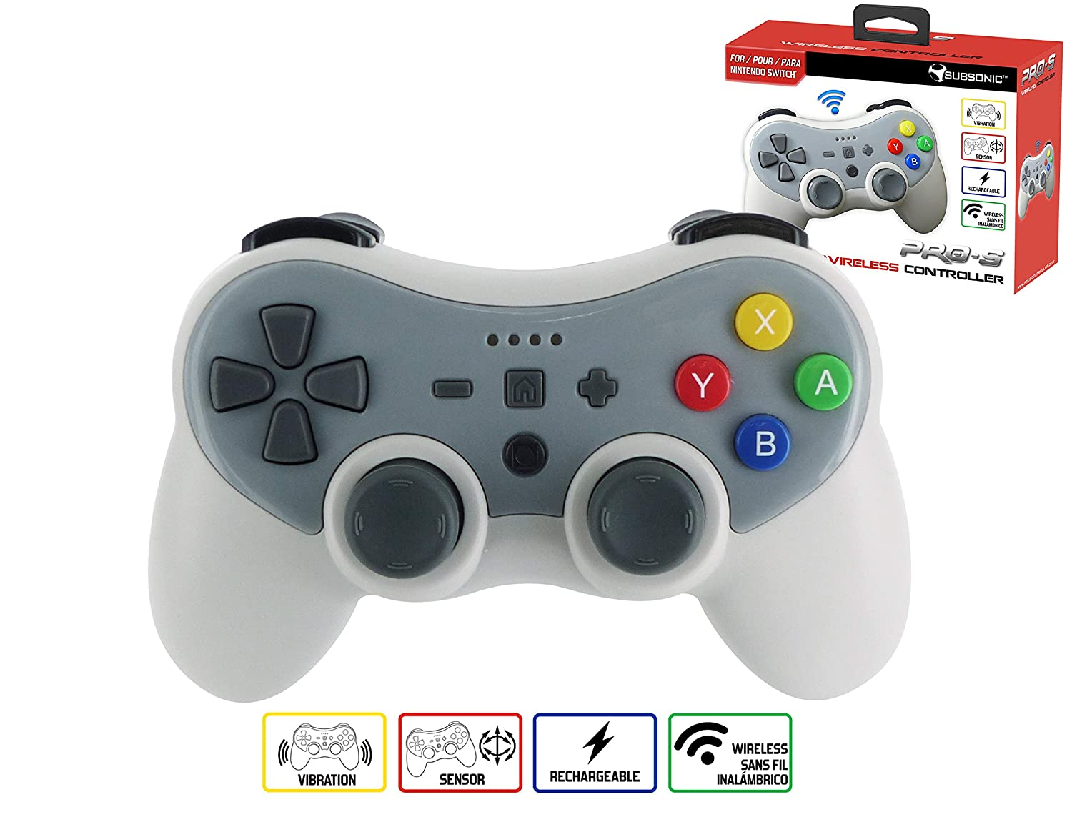 Subsonic - Wireless Controller for Nintendo Switch with 2 m