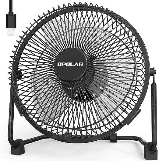 Powered ONLY Enhanced Airflow OPOLAR 9 inch USB Desk Fan No Battery Lower N