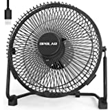 OPOLAR 9 Inch Metal Desk Fan, Enhanced Airflow, Lower Noise, USB Powered ONLY, Two Speeds, Perfect Personal Cooling Fan for Home Office Table