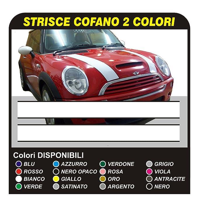 1 opinioni per Adesivi Strisce Adesive Bonnet Stripes- fasce adesive cofano BICOLORE (NERO