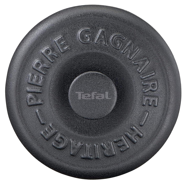 Tefal Heritage - Set minicacerolas de 10 cm, hierro fundido, 0,3 litros, tapa potenciadora de condensación, retención calor, cocción fuego lento, ...