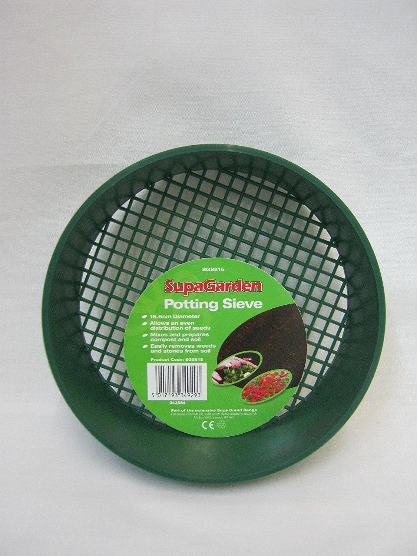 New Supagarden Small Green Plastic Potting Sieve SGS815