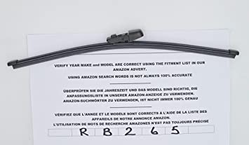 Limpiaparabrisas trasero de ajuste exacto 35 cm RB265